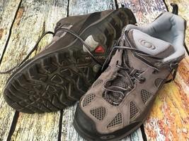 SALOMON Contagrip Gray Blue Trail Hiking Shoes Men's Size 6.5 US 40 EU - $24.75