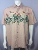 Caribbean Hawaiian Shirt XL Silk Blend Tiki Lounge Beach Vacation Coral ... - $39.20