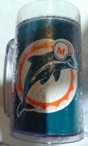 MIAMI DOLPHINS ICY LOOK PLASTIC MUG. NEW CONDITION. CLEARANCE! - $6.99