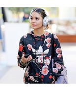 New Adidas  Women's Trefoil Allover Floral Roses Hoodie Jacket Sweater F... - $99.99+