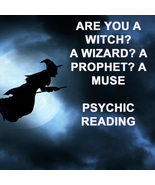 PSYCHIC READING ARE YOU A WITCH? WIZARD? PROPHET? GIFTED? 99 yr Witch C... - $59.77