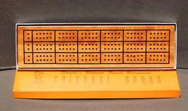 Drueke's Natural Finish Hardwood Cribbage Board No. 28 NOS Unused? - $12.99