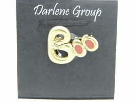 Vintage Halloween BOO Gold Tone Enamel Darlene Group Pin Brooch - $13.86