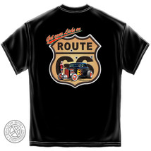 New GET YOUR LICKS ON ROUTE 66  Hot Rod T SHIRT -- LARRY GROSSMAN - $19.79+