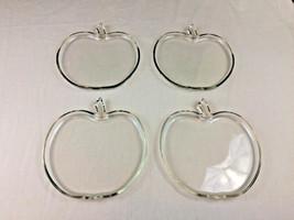 "Vintage Hazel Atlas Orchard Clear Glass Apple Plates 8"" Luncheon 1940's ... - $4.74"