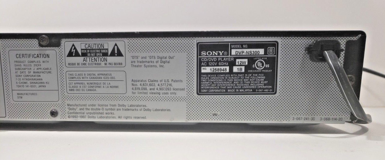 Sony DVP-NS300 CD/DVD/Video CD Player.. Tested with Remote image 9