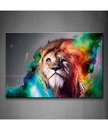 Firstwallart Colorful Lion Artistic Wall Art Painting The Picture Print ... - ₹3,677.72 INR
