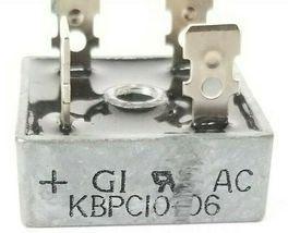 GENERAL INSTRUMENTS KBPC10-06 BRIDGE RECTIFIER 10A 50V KBPC1006 4-PRONG image 3