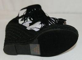 BF Betani Shiloh 8 Black Fringe Wedge Heel Sandals Size 7 image 6
