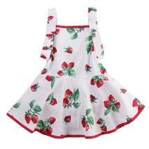 NWT Baby Girls White Strawberry Sleeveless Romper Dress 0-6 6-12 12-18 1... - $10.99