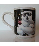 Coca-Cola Polar Bear Coffee Cup 1996 Mug Coke Advertising Hot Tea Latte - $9.75