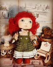 Interior Textile Doll, Handmade Doll, Art Doll, Cloth Doll, OOAK Doll,13... - $130.00