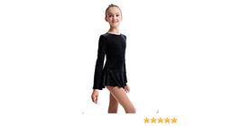 Mondor Model 2711  Born to Skate skating Dress - Black/Silver - $63.99