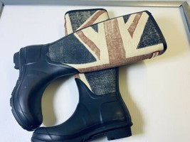 "Hunter ""Brit"" Tall British Flag Boots/Rain Boots Size 5 VGUC Worn For 1 Hour - $153.93"