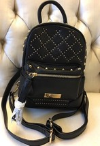 BRAND NEW Bebe Mini Backpack Black With Gold Stud And Diamond Sequined F... - $65.99