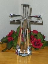 Telflora Cross 24% Crystal Fine Bohemiun Crystal Czech Centerpiece Facet... - $24.99