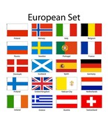European Europe 3x5 Flag Set of 20 Country Countries Polyester Flags gro... - £72.36 GBP