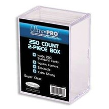 Ultra PRO All Team 2-Piece Storage Box, 250 Count, Clear - $8.61