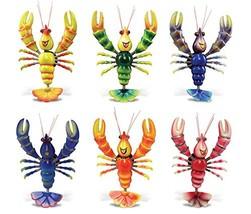 Funny Lobster - Refrigerator Bobble Magnet (Set of 6) - $19.19