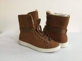 UGG STARLYN CHESTNUT ANKLE SNEAKERS LEATHER SHOE US 8 / EU 39 / UK 6 NIB - $88.83