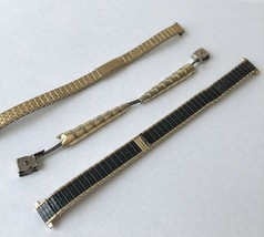 Lot of 3 Vintage Womens Watch Bands Speidel USA - $16.00