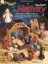 Plastic Canvas Xmas Starlight Nativity 15 Designs Stable Manger Animals ... - $15.99