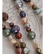 "Multi-Colored Polished Variable Beads Rope Necklace, 100"" Long, Pre-Owned - $37.00"