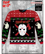 Friday the 13th Jason Voorhees Ugly Horror Knit Holiday Christmas Sweate... - $53.99