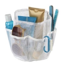 Bath Organizer Tote Durable Mesh Shower Accesory Caddy Bag w 6 Pockets W... - $18.62