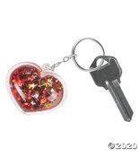 Glitter-Filled Heart Keychains - $33.73
