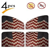4 Pcs Car Windshield Sunshade American Flag Quilt For Memorial Day And 4... - £28.76 GBP