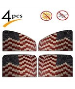 4 Pcs Car Windshield Sunshade American Flag Quilt For Memorial Day And 4... - £28.39 GBP