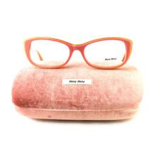 New Miu Miu Eyeglasses VMU 01L LAJ 101 Pink-Gold Acetate 53 17 140 Authe... - $95.00