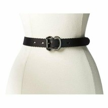 "Large 37.5"" Black Macy's Designer Fossil Women's Belt Leather 1"" - $23.38"