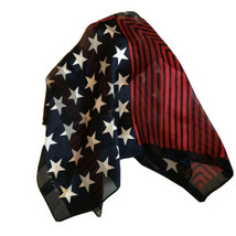 Echo Silk Scarf Stars & Stripes Red White & Blue Patriotic - $11.87