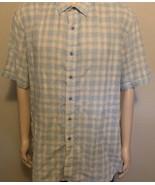 Men's Robert Graham Classic Fit Short Sleeve BF Plaid Shirt 3XL Light Bl... - $38.69