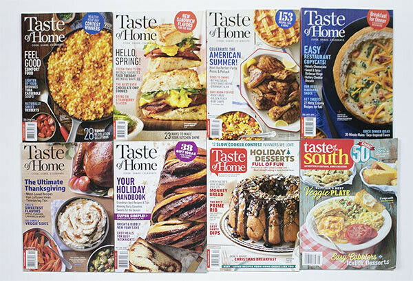 Primary image for TASTE OF HOME MAGAZINES LOT OF 8  ISSUES 2019  RECIPES COOKING FOOD HOLIDAYS