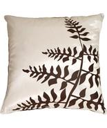 Pillow Decor - White with Brown Bold Fern Throw Pillow - $34.95