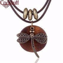 COOSTUFF Vintage Dragonfly Wooden Handmade Necklace / Pendant - Ladies /... - $8.50