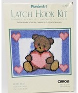 Teddy With A Heart Bear Latch Hook Rug Kit Caron WonderArt #4101 NEW and... - $9.89