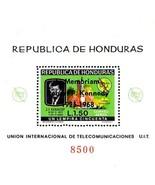 HONDURAS 1968 in MEMORIAM JFK KENNEDY S/S overprinted MNH SPACE - $5.24 CAD