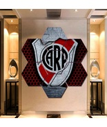 Club Atletico River Plate Wall Art Painting Canvas Poster Decor Hexagon ... - $94.99+