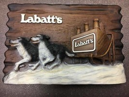Labatt's Canadian imported advertising original dogs pulling sled of bee... - $43.11