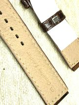 Genuine leather watch band 18mm special cut 22mm Vintage alligator grain image 4