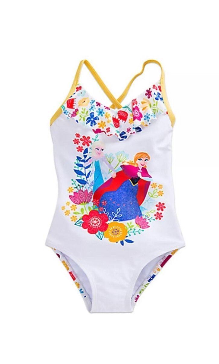 New Disney Store Frozen Elsa & Anna Swimsuit for Girls Size 4T