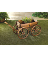 ADORABLE APPLE BARREL PLANTER WAGON - $94.95