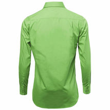 NEW Omega Italy Men's Dress Shirt Long Sleeve Solid Color Regular Fit 15 Colors image 4