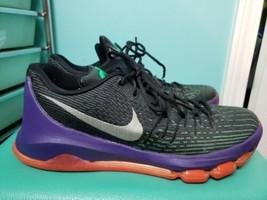 Nike KD 10.5 Black White Green Hyper Orange Kevin Durant Mens Shoes 7493... - $29.69