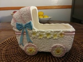 Vintage Inarco Pink Buggy/ Stroller  Planter with Original Tag  MINT Condition! - $21.00