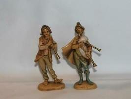 2 VTG Depose Italy Fontanini Nativity Figurines Bagpipe #103 & Flute #116 - $15.99